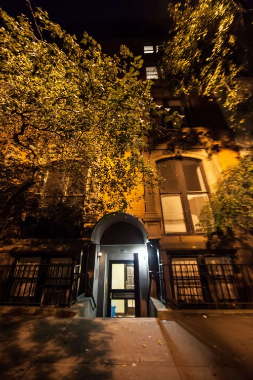 The Mark Twain House in NYC, haunted and so much more. This night time shot doesn't show the ghosts that lurk within.