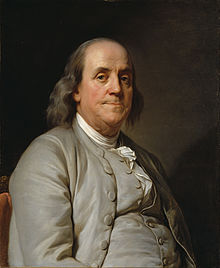 Portrait by Joseph Siffrein Duplessis of Benjamin Franklin
