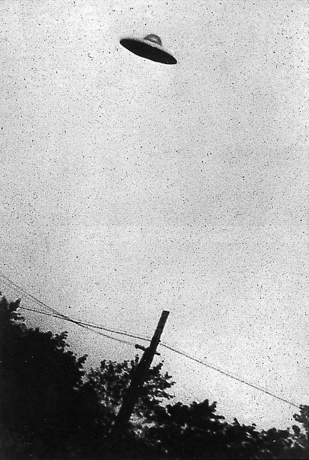 Photograph of a purported UFO in Passaic, New Jersey, taken on July 31, 1952